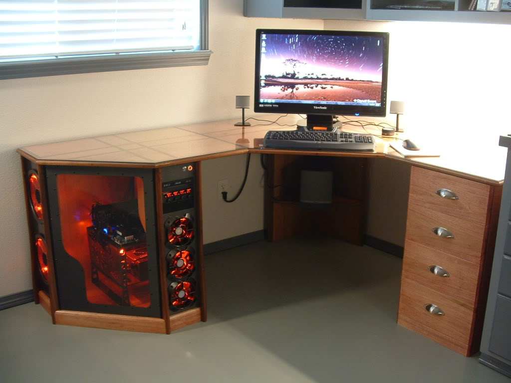 Computer desk pics - design decoration.