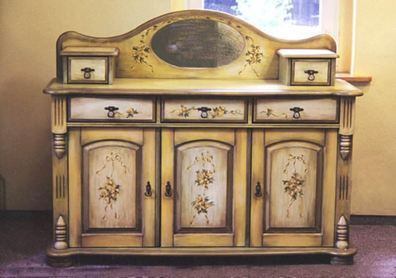 Реставрация мебели в стиле декупаж