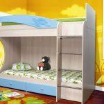 кровать дельфин двухэтажная