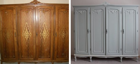 реставрация большого шкафа в прихожую