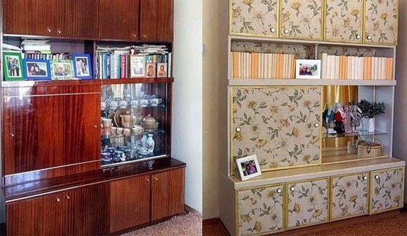 реставрация мебели своими руками шкаф