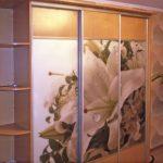 шкаф купе с фотопечатью лилия