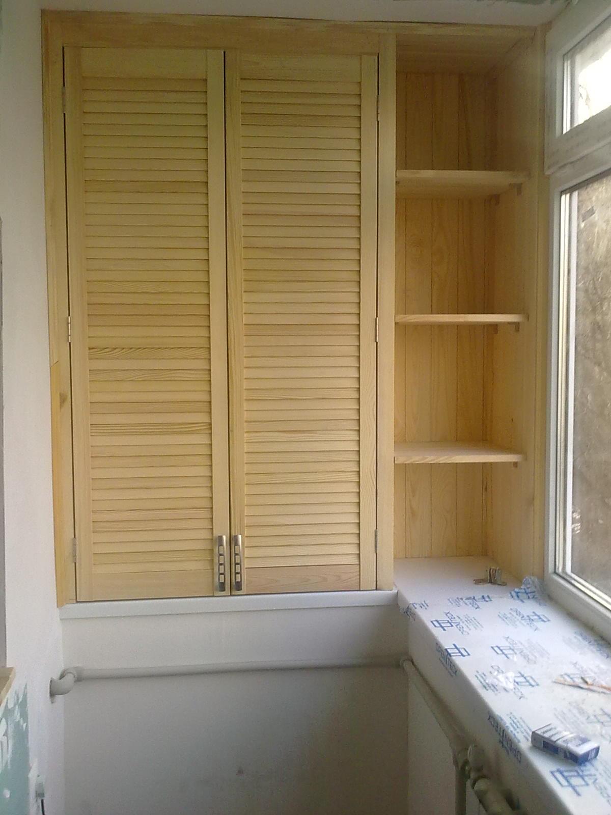 Как сделать дверцу для шкафа на балконе