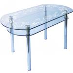 стол с рисунком пескоструй