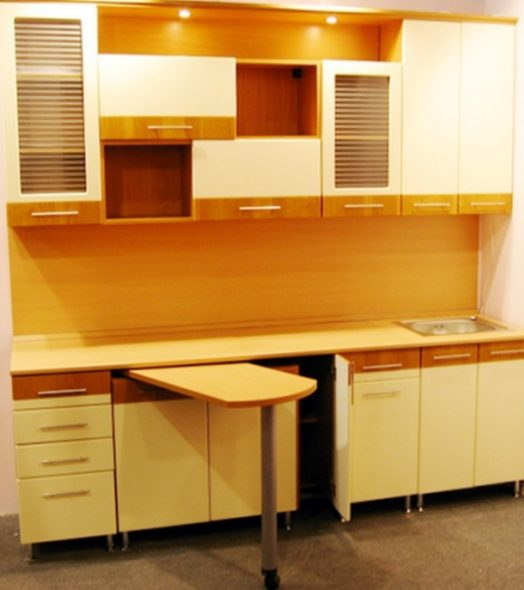 Кухни с выдвижным столом дизайн