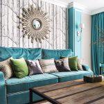 диван бирюзовый яркий