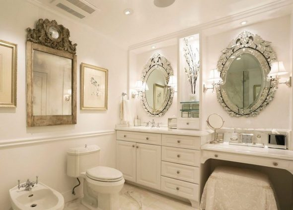 зеркало в ванной ширина