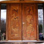 Деревянная дверь Буратино искусственно состаренная мебель