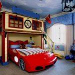 Детская комната в стиле мультфильма Тачки