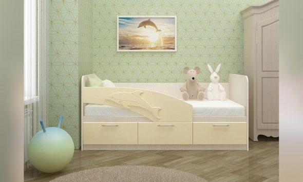Детская кровать Дельфин 80 на 160
