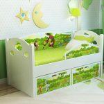Детская кровать с бортиками 160 80 см
