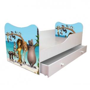 Детская кровать с ящиками 160 80 Мадагаскар