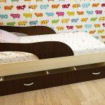Детская кровать с выдвижным ящиком матрас 160 80