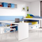 Детская современная кровать-трансформер со столом