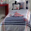 Детские покрывала на кровать для мальчиков в морском стиле