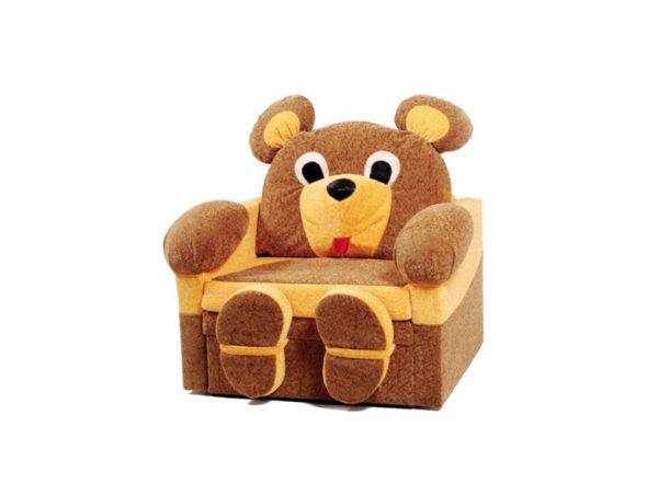 Детское кресло кровать мишка
