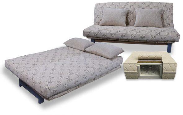 Диван кровать с ортопедическим матрасом вместо подушек