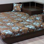 диван кровать с ортопедическим матрасом коричневый