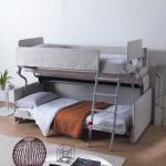 Диван трансформер в двухъярусную кровать в интерьере