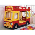 Двухярусная детская кровать-машина Milli Bus