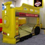 Двухъярусная кровать паровоз