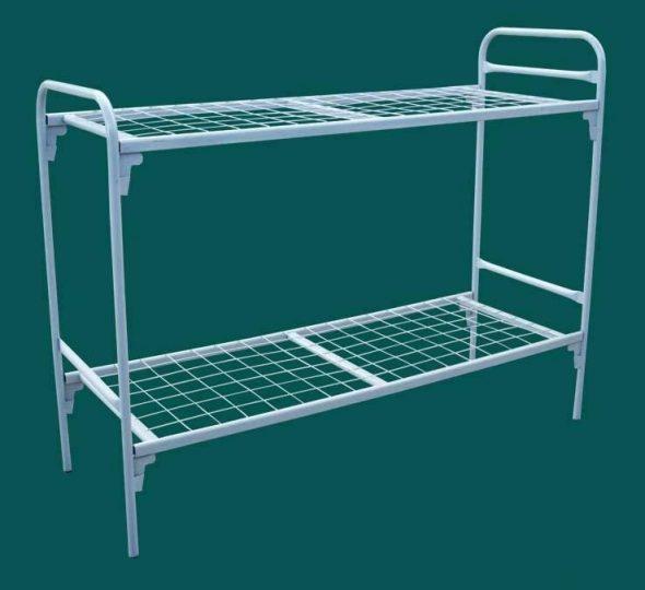 Двухъярусные железные кровати