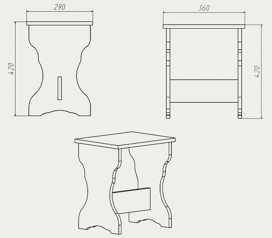 Стулья для кухни своими руками с чертежами