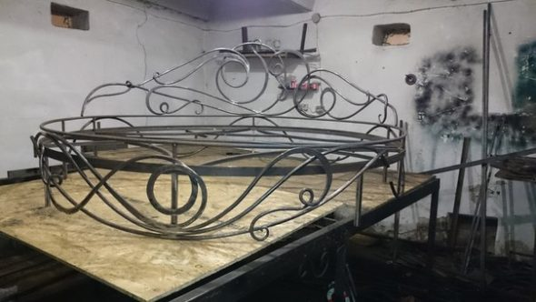 Кованые кровати, круглые