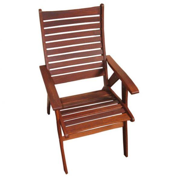Кресло деревянное из мербау