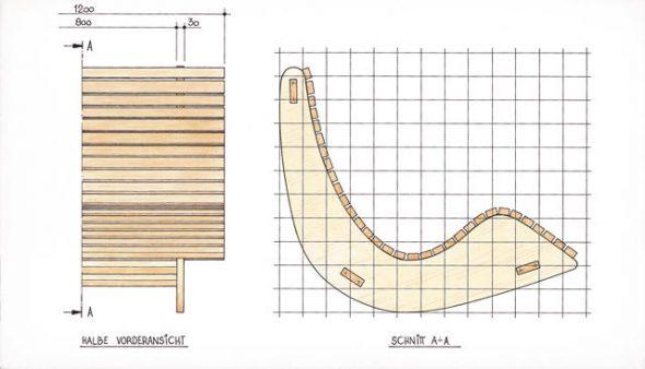 чертеж кресла качалки