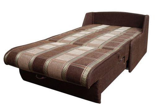 Кресло кровать без подлокотников коричневого цвета