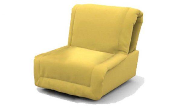 Кресло-кровать без подлокотников желтого цвета