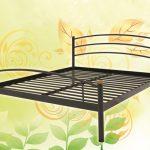 Кровать металлическая черная
