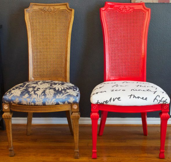 Reupholstering a dining room chair