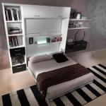 Подъемная кровать-шкаф со столом