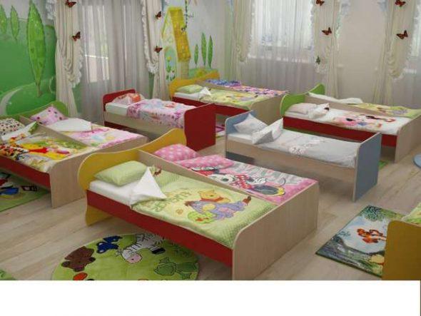 Спальни оборудуются стационарными кроватями