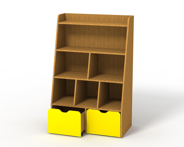 Стеллажи с ящиками для игрушек своими руками 34