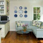 Стильный угловой диван в кухни
