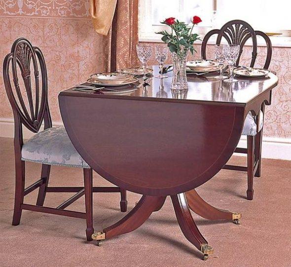 Стол обеденный раздвижной овальный в классическом стиле