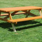 Стол со скамьями для пикника