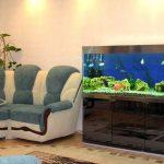 Тумба под аквариум в интерьере дома