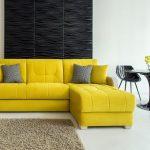 ортопедический диван кровать желтый