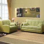 диван аккордеон зеленый