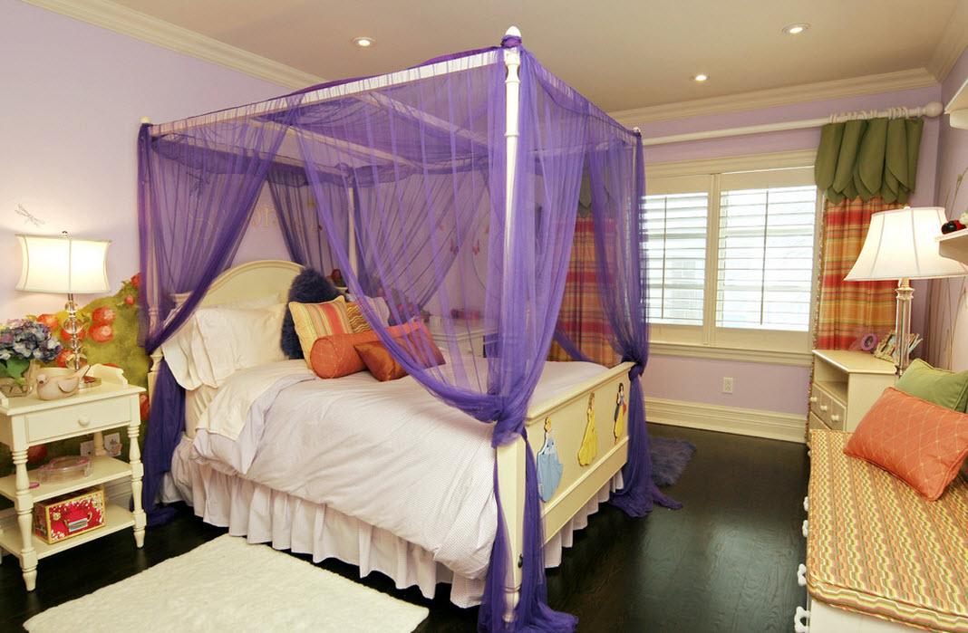 Балдахин над кроватью для девочки подростка