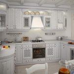 белый гарнитур кухонный