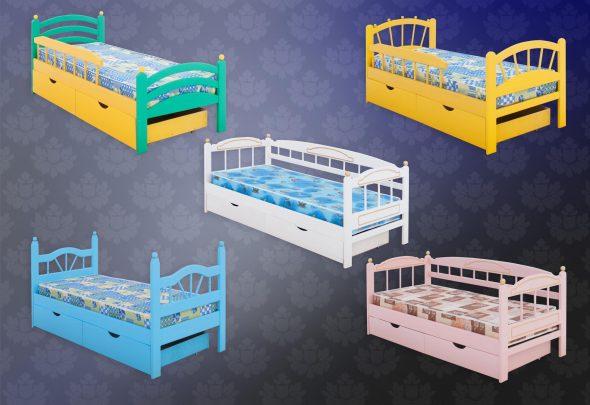детские кровати с цветом