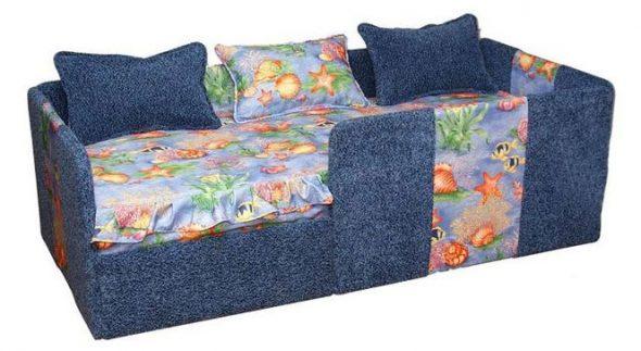 детский диван для мальчика с бортиками