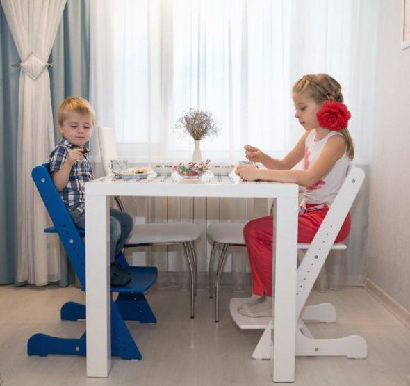 детский регулируемый стул своими руками