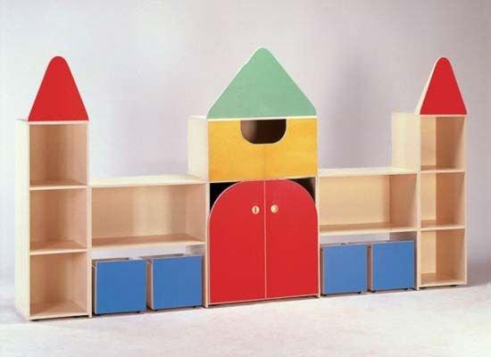 детский стеллаж своими руками-замок