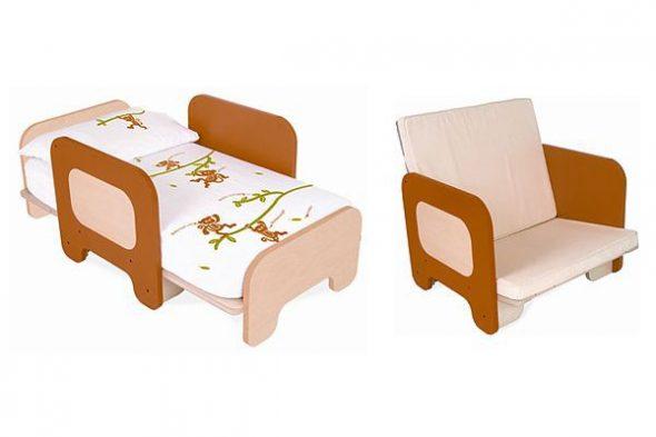 детское кресло кровать с бортиками